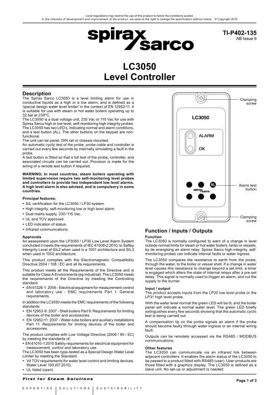 Level Controls-Spirax-Sarco Limited
