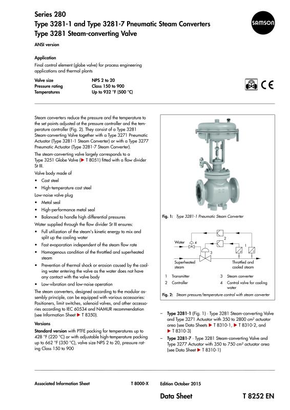 3281 - Steam Conditioning Globe Valve-SAMSON