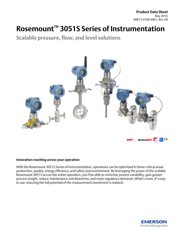 Rosemount 3051S Pressure Transmitter-Emerson Process Management  on