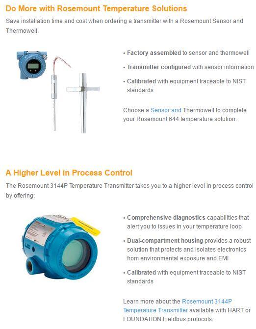 Rosemount 644 Temperature Transmitter-Emerson Process Management  on