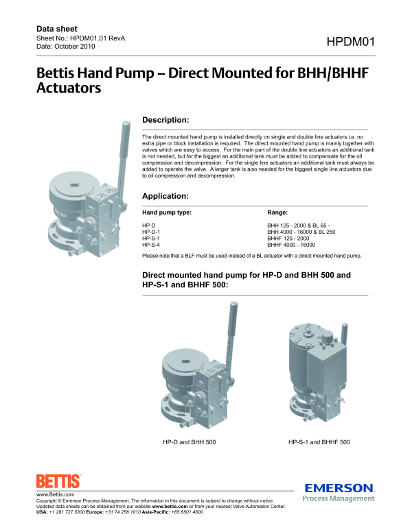 2016080314354198721 bettis bhh (bhhf) hydraulic helical valve actuator emerson process