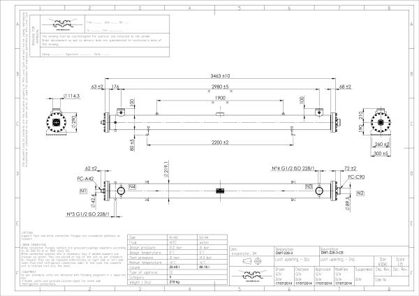 Кожухотрубный испаритель Alfa Laval DM1-226-3 Оренбург теплообменник пластинчатый теплотекс