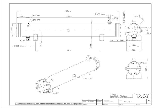 Кожухотрубный конденсатор Alfa Laval CXP 162-S-2P Артём Подогреватель низкого давления ПН 130-16-10 IIсв Чайковский