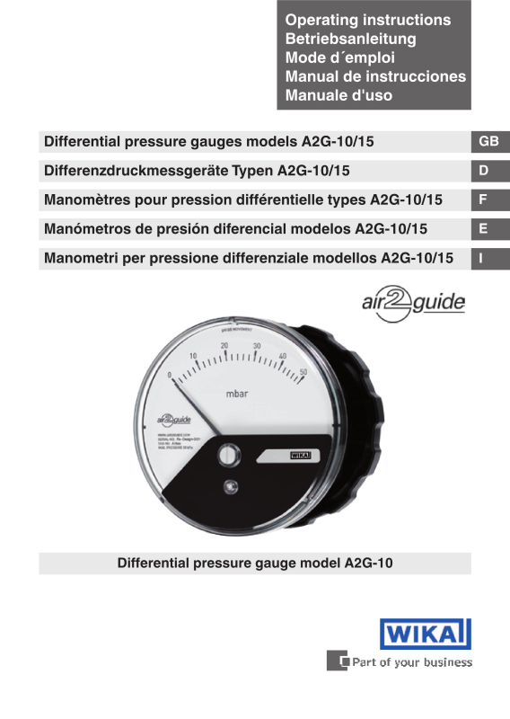 +//-3/% Accuracy Wika 52216977 Polycarbonate Low Pressure Differential Pressure Gauge with Panel Mount 2 x 1//8 Hose Barb Type A2G-10 Back Connection 30 WC Range 4-1//2 Diameter