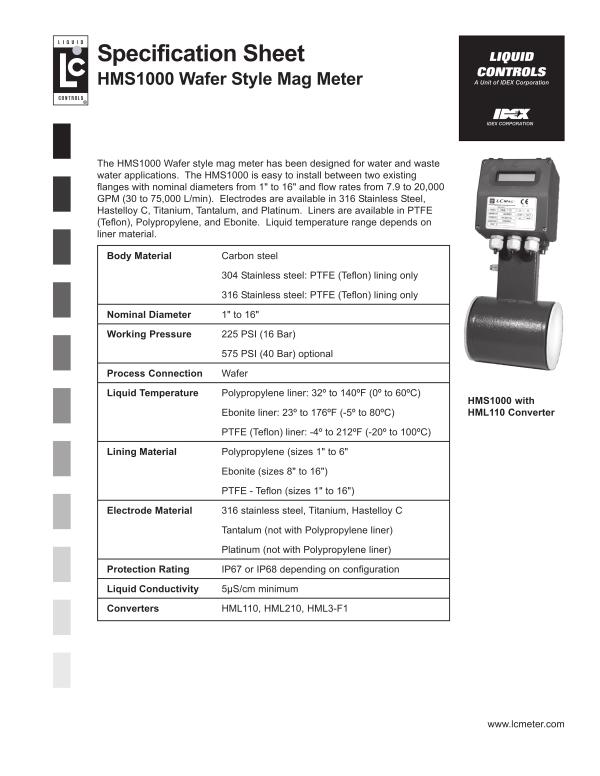 Liquid Controls Positive Displacement Flow Meters And