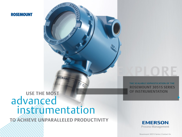 Rosemount 3051S Pressure Transmitter-Emerson Process Management